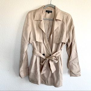 Catherine Malandrino Tan Tencel Trench Coat Jacket